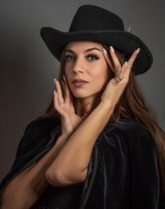 model during a fashion portrait shoot with shawn sviridov